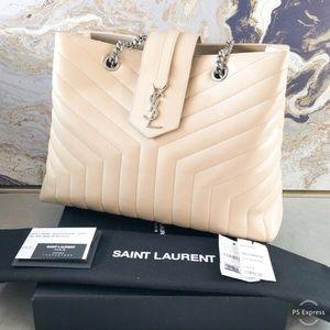 In Stores Saint Laurent Monogram Large Lou LouTote